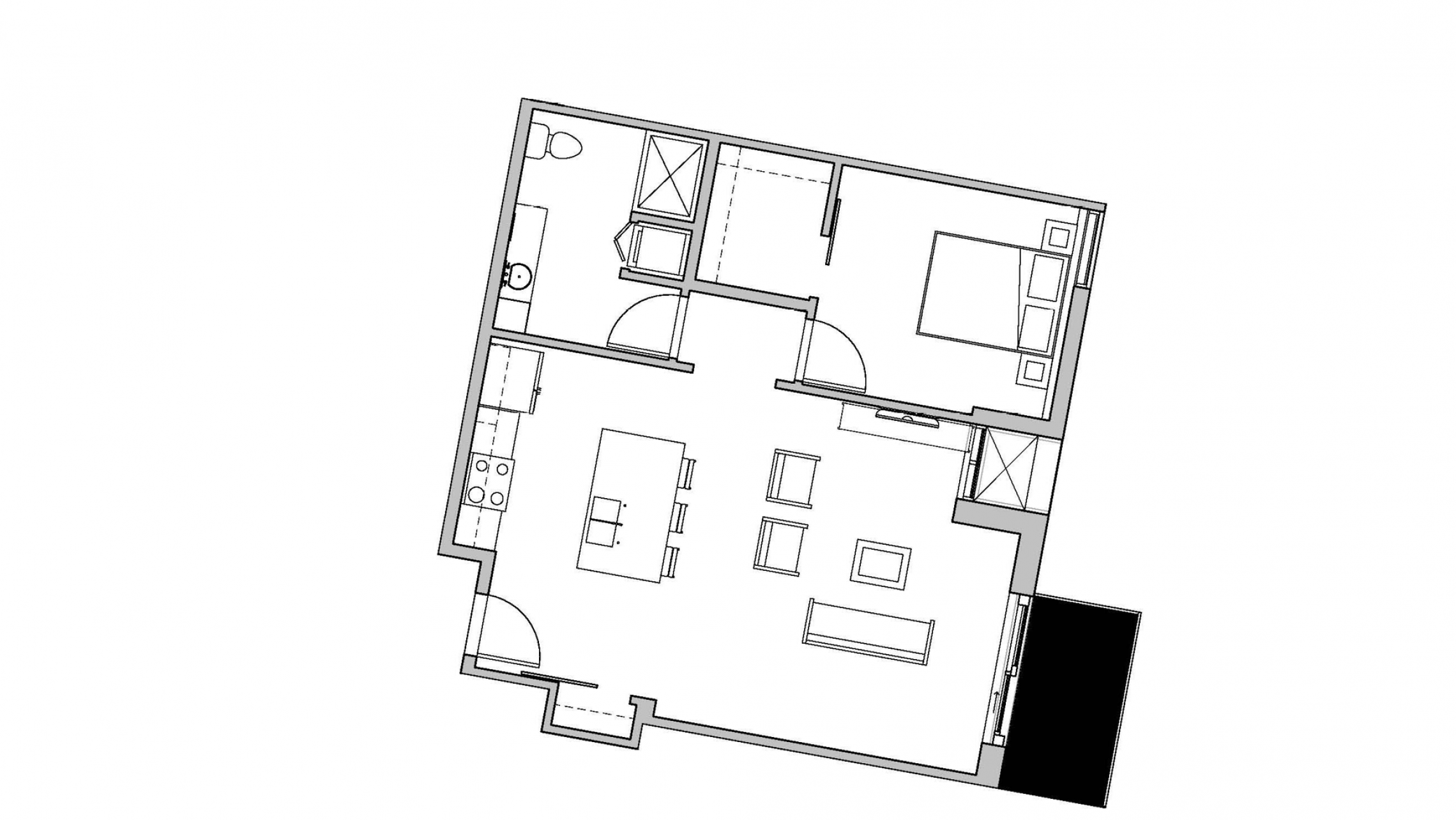 ULI Seven27 426 - One Bedroom, One Bathroom