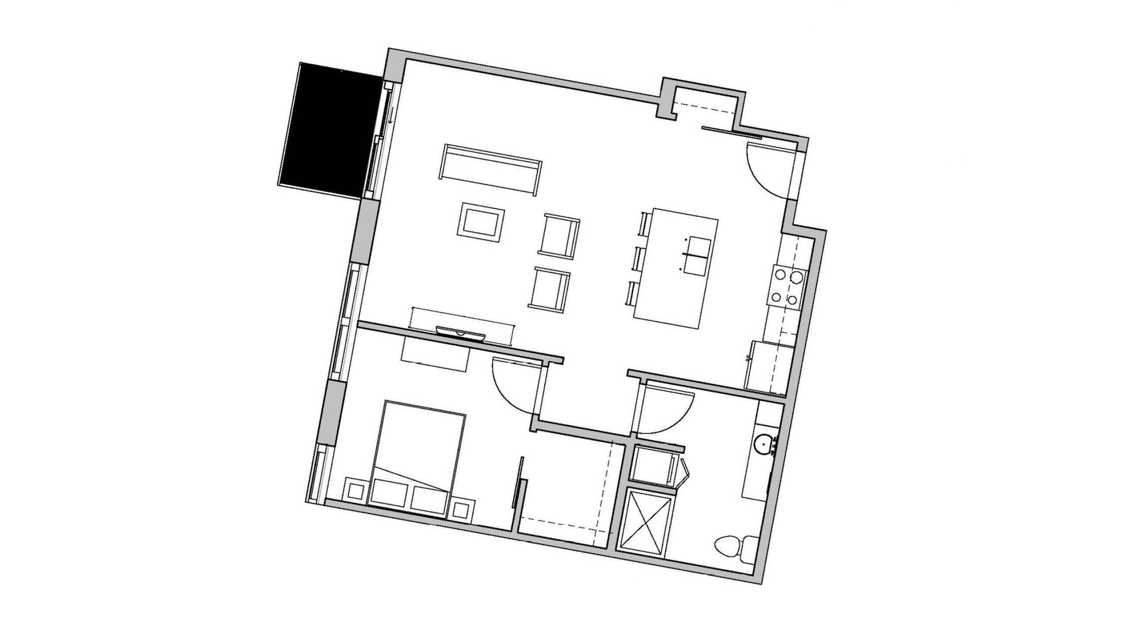 ULI Seven27 433 - One Bedroom, One Bathroom