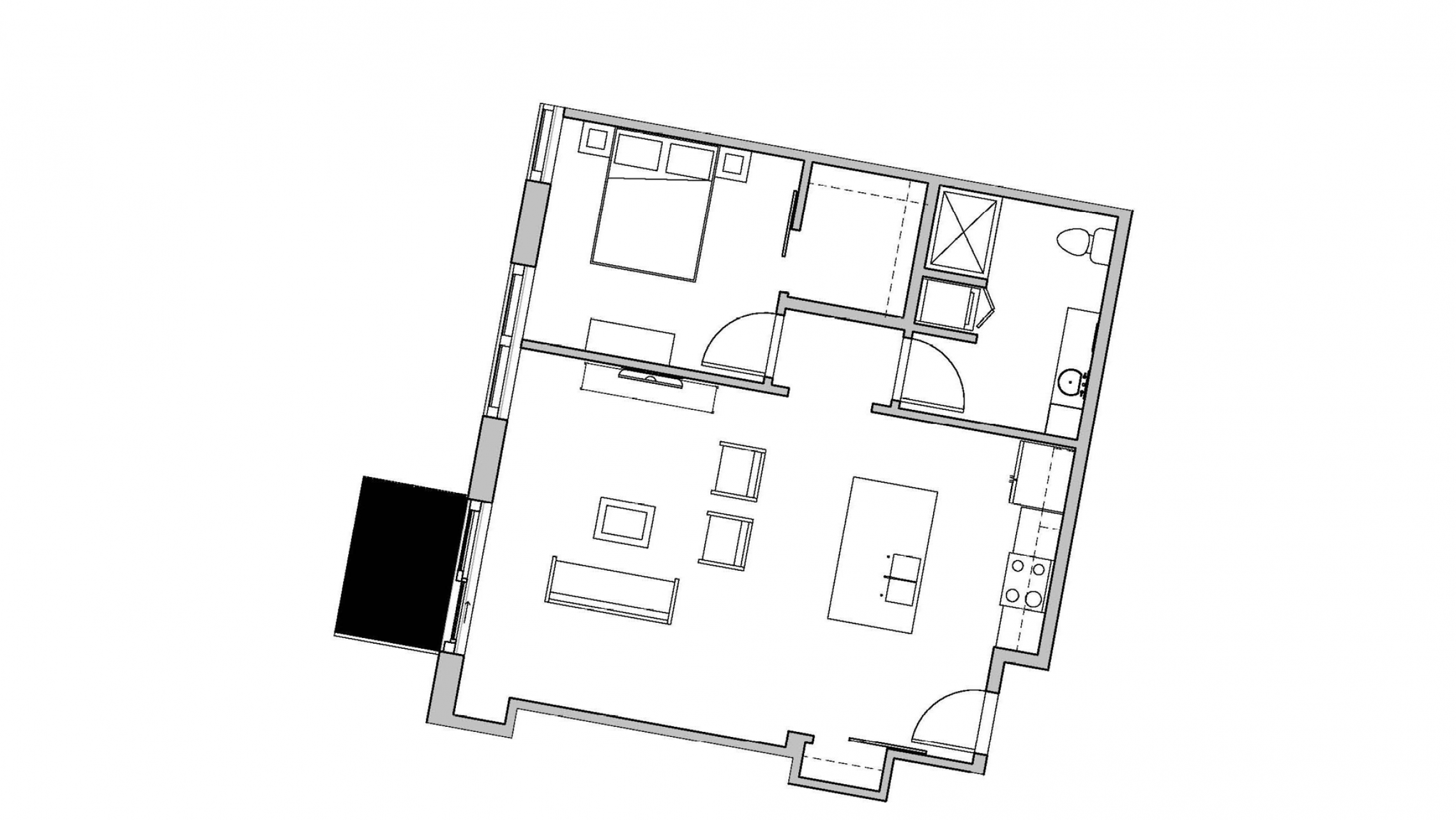 ULI Seven27 435 - One Bedroom, One Bathroom