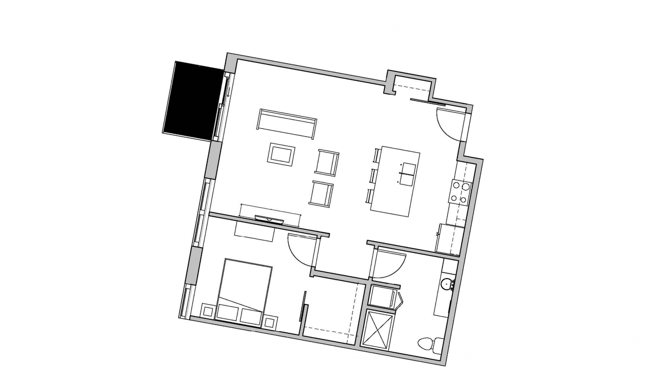 ULI Seven27 528 - One Bedroom, One Bathroom
