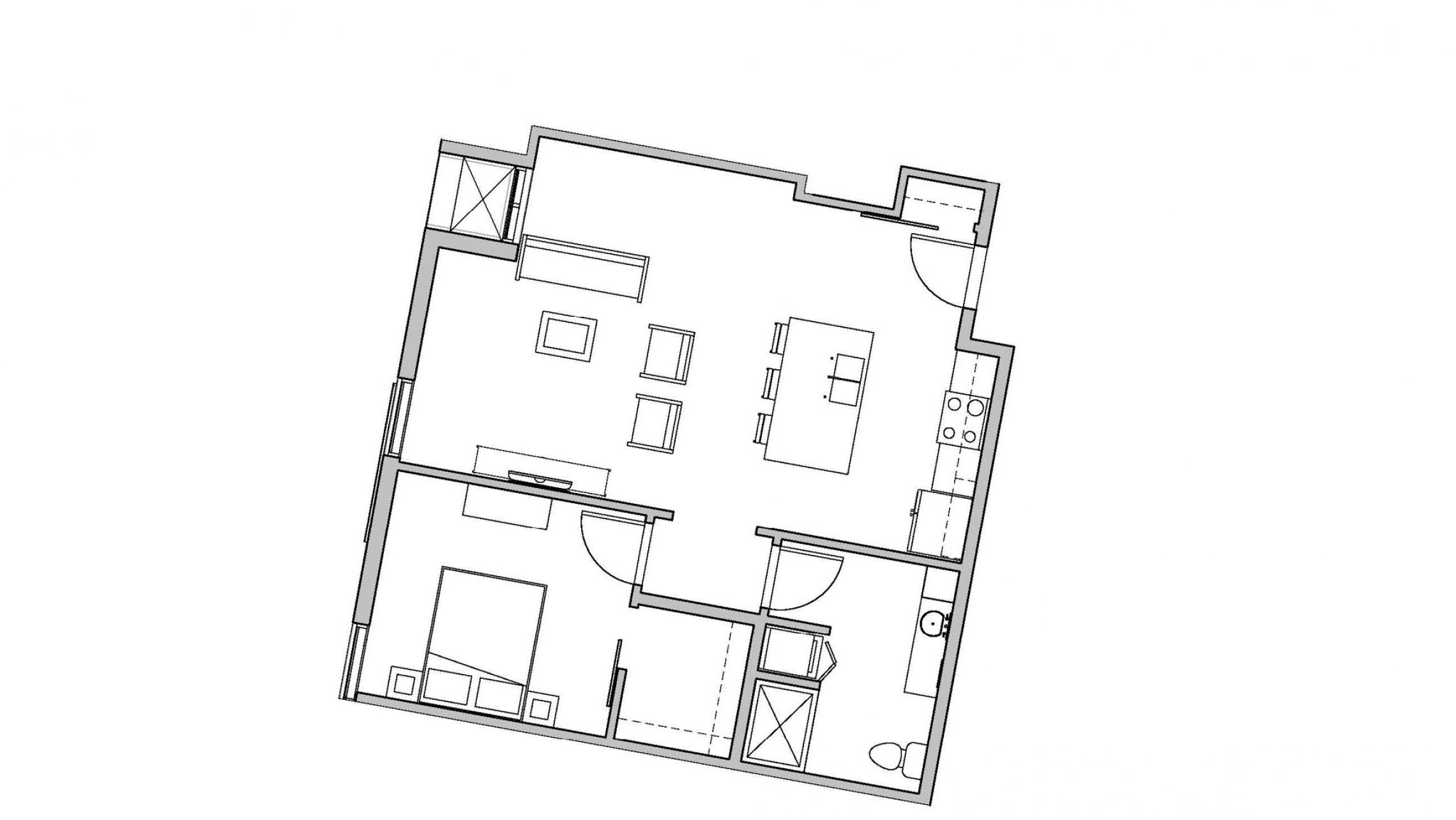 ULI Seven27 537 - One Bedroom, One Bathroom