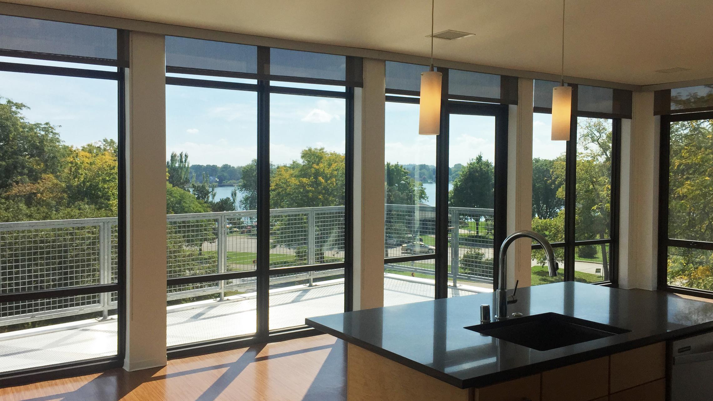 ULI Seven27 Apartment 302 - Living Room with Lake Monona View