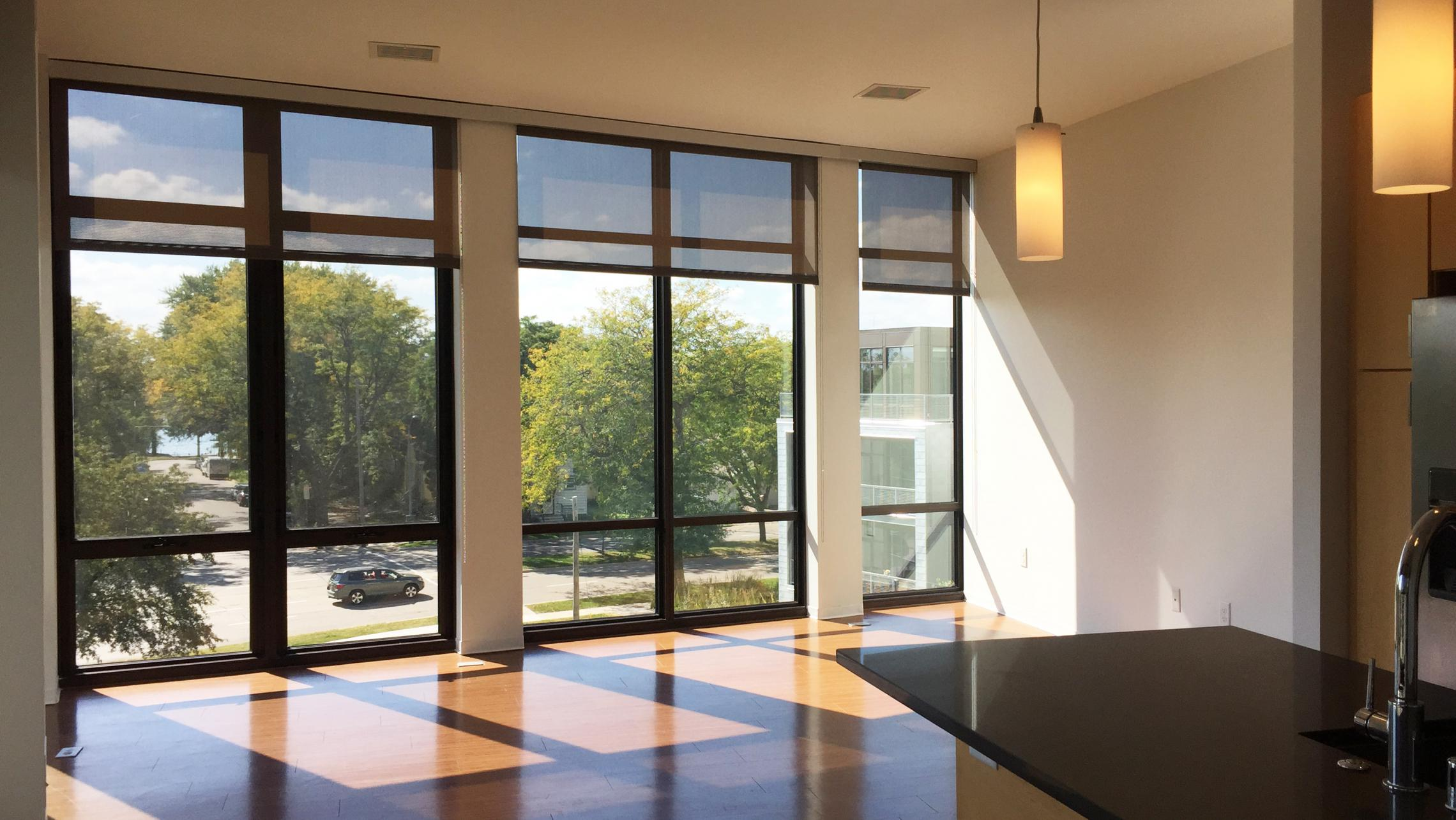 ULI Seven27 Apartment 339 - Living Room with Large Windows
