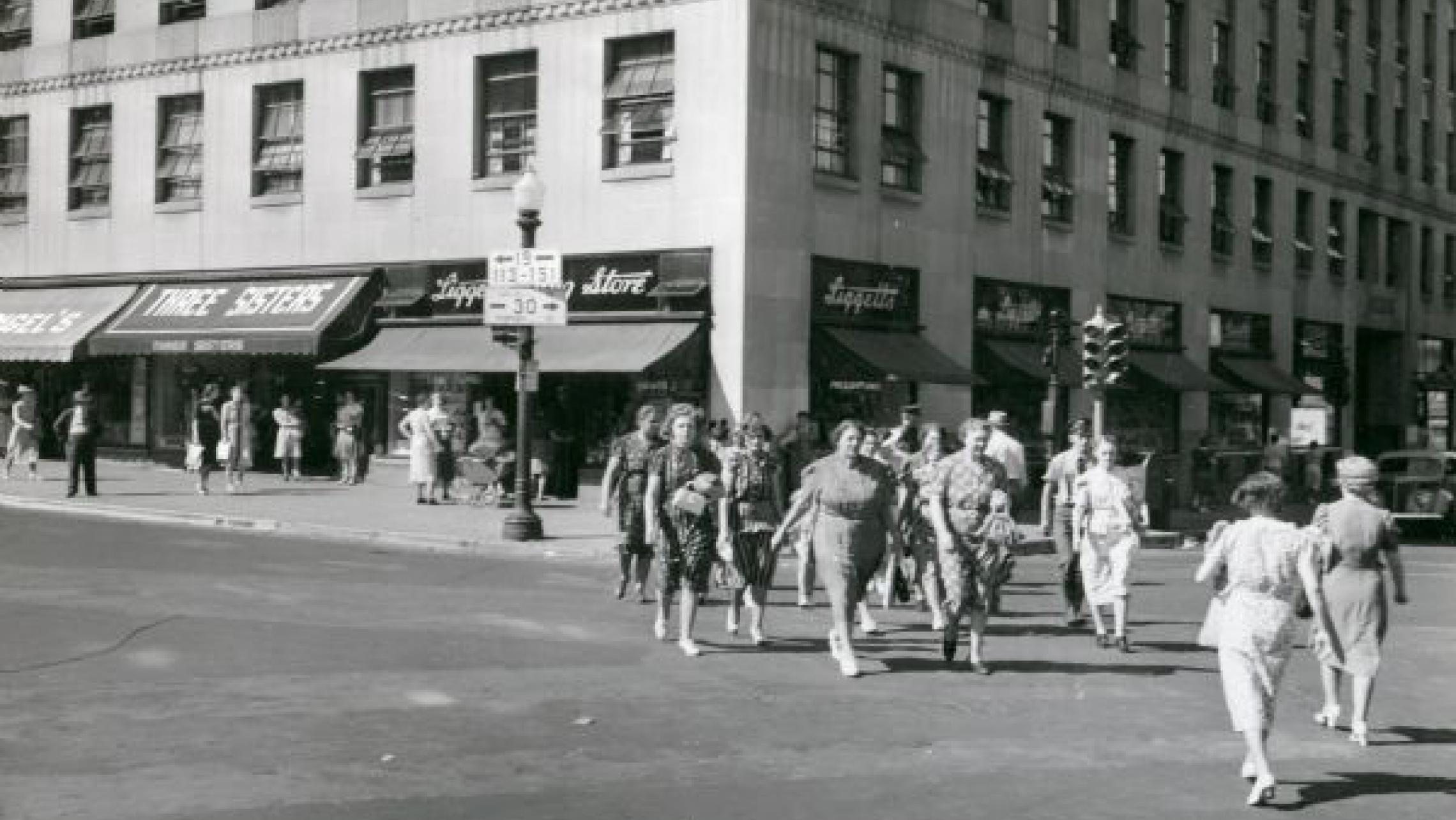 ULI Tenney Plaza - Historic Photo, Women Walking