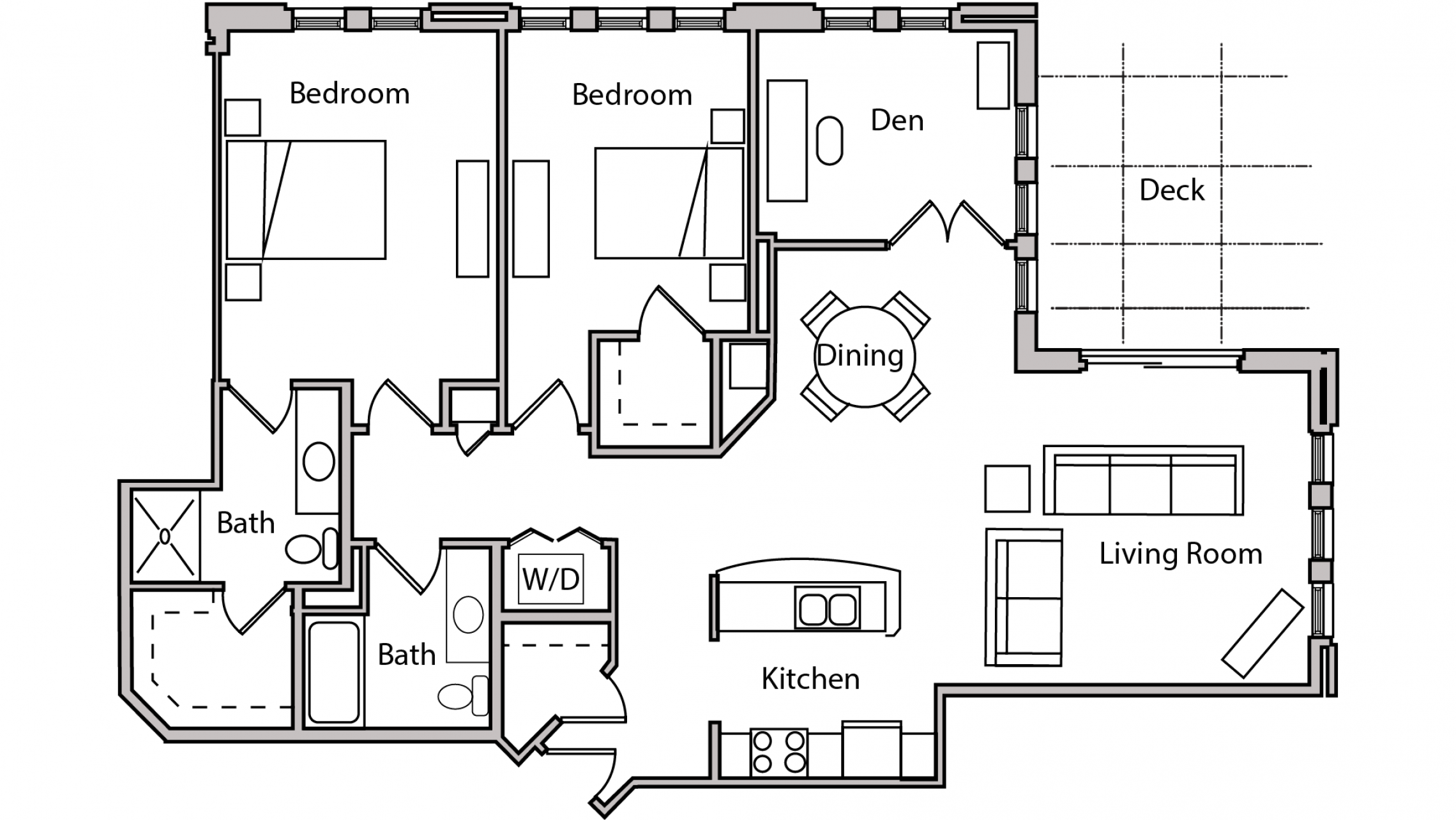 ULI The Depot 1-505 - Two Bedroom Plus Den, Two Bathroom