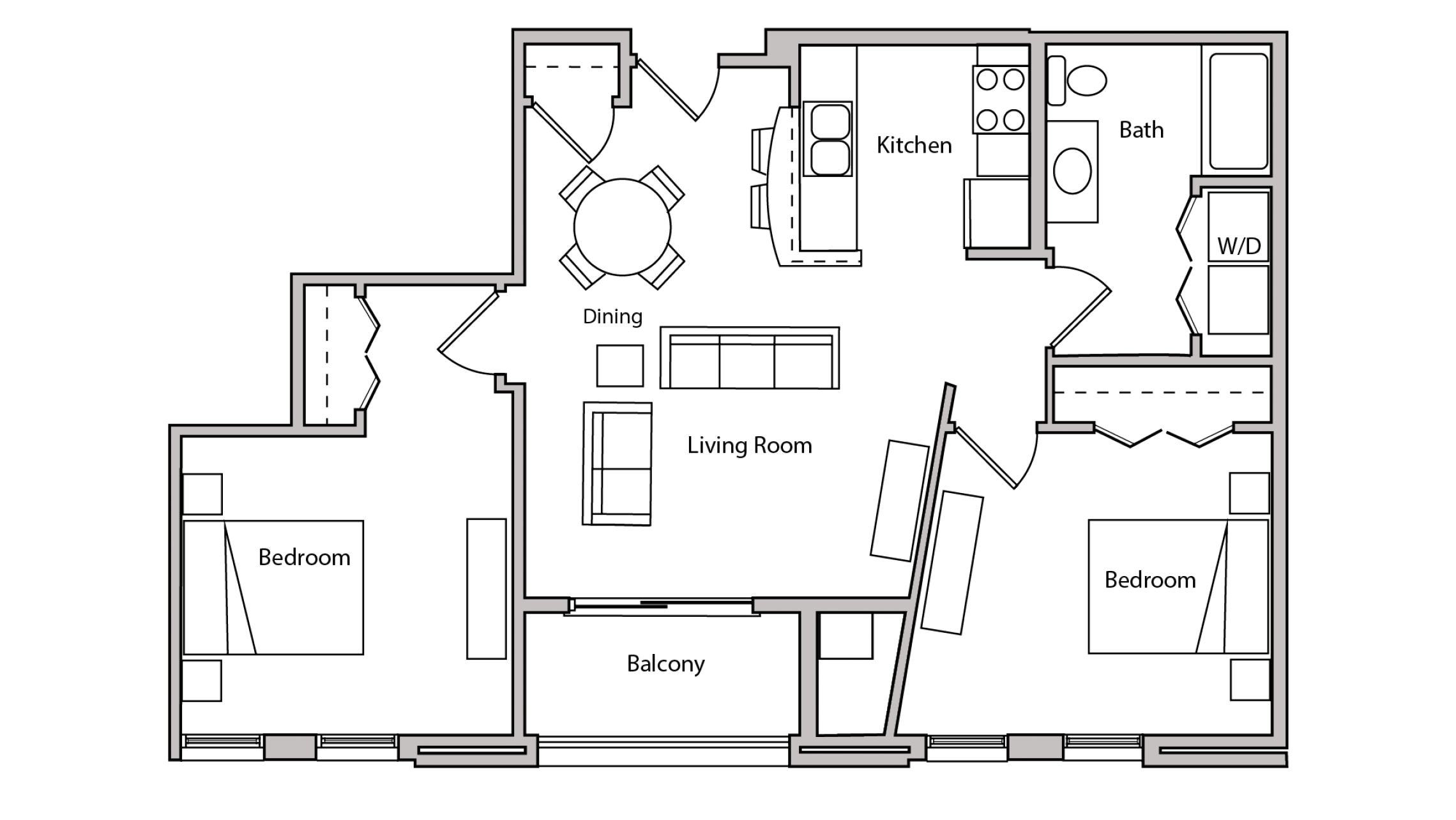 ULI The Depot 2-208 - Two Bedroom, One Bathroom