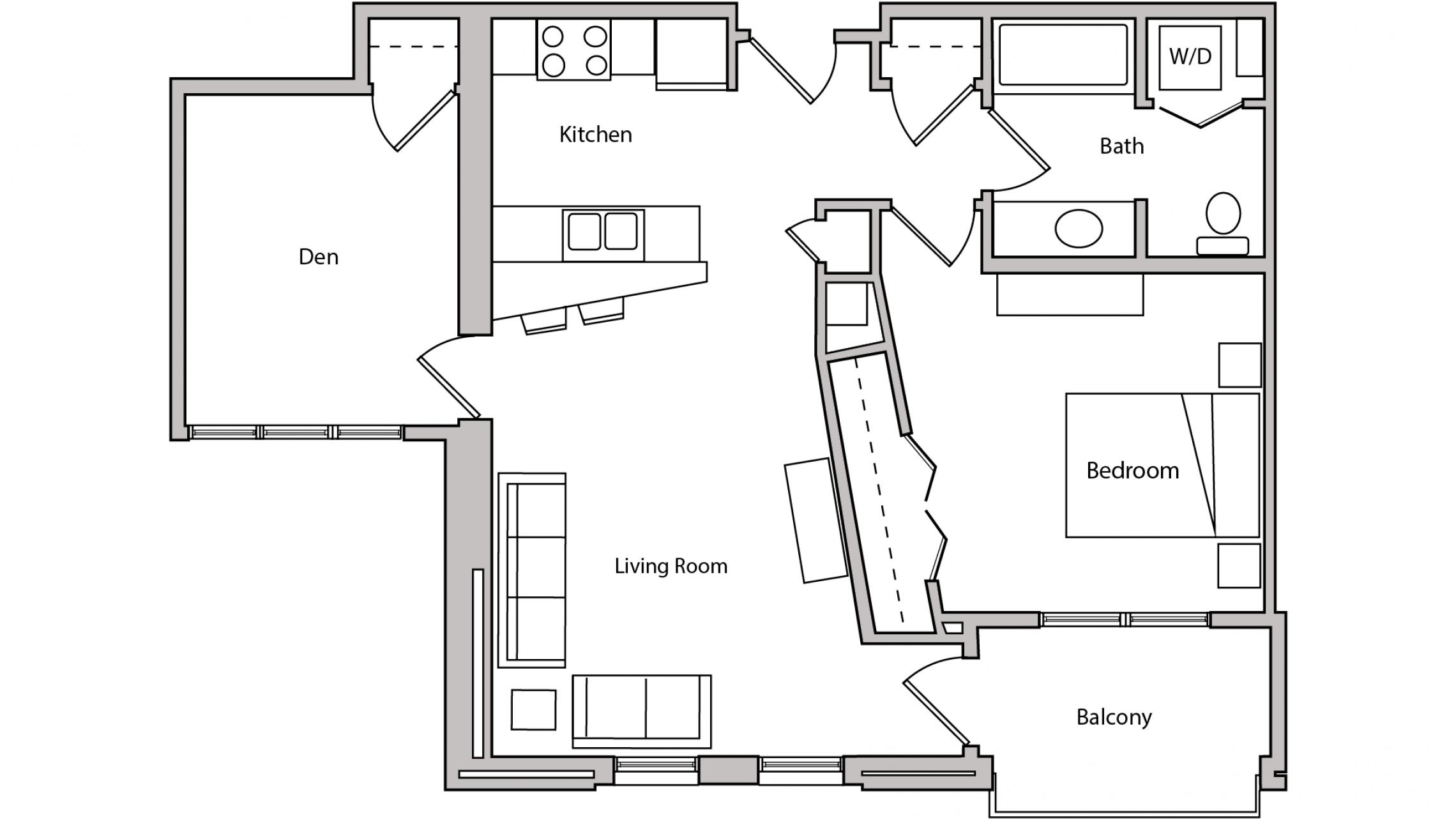 ULI The Depot 2-402 - One Bedroom Plus Den, One Bathroom