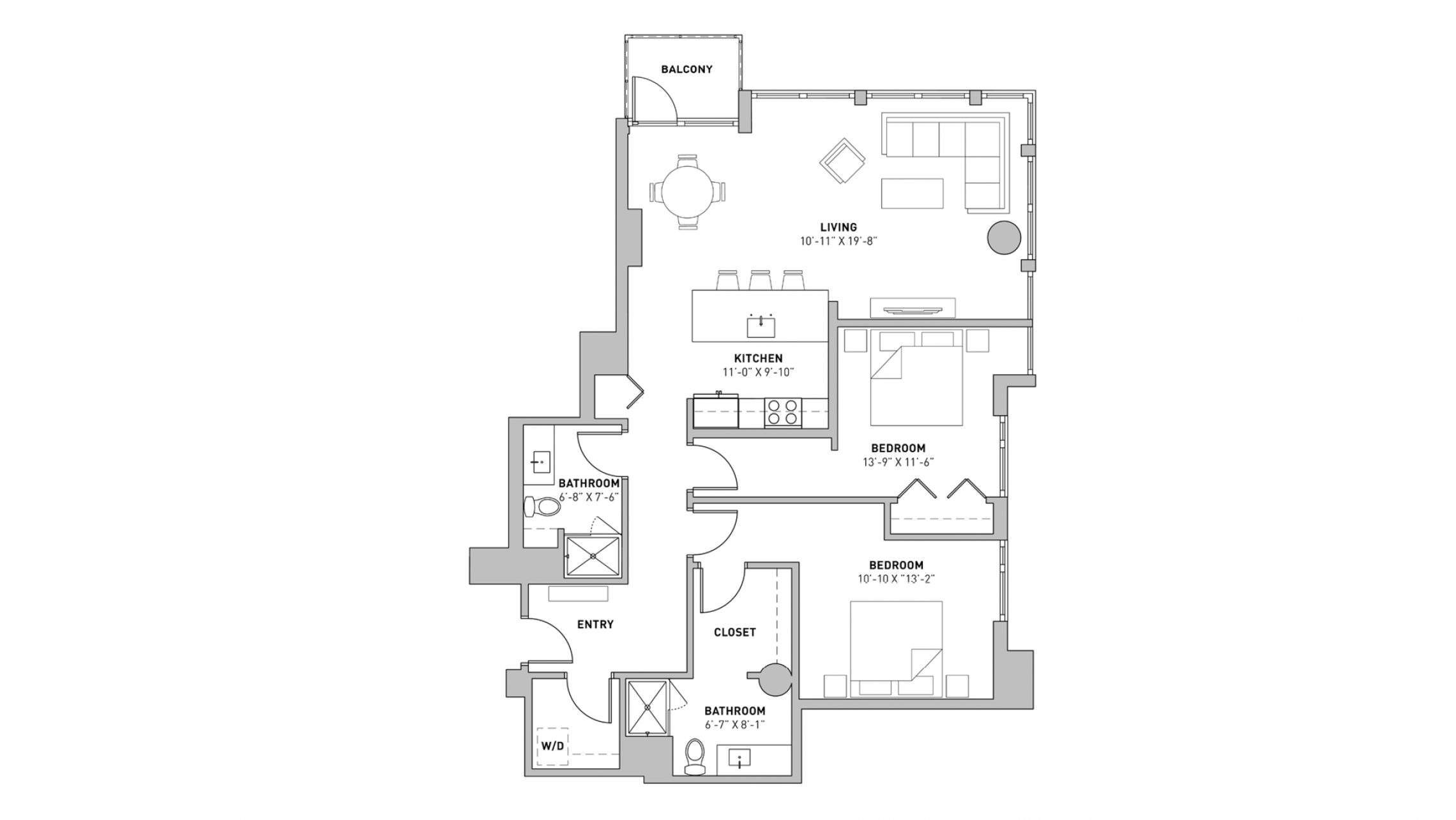 ULI The Pressman 207 - Two Bedroom, Two Bathroom