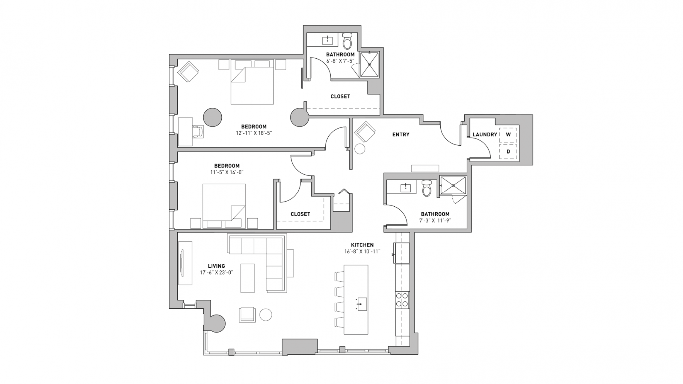 ULI The Pressman 402 - Two Bedroom, Two Bathroom
