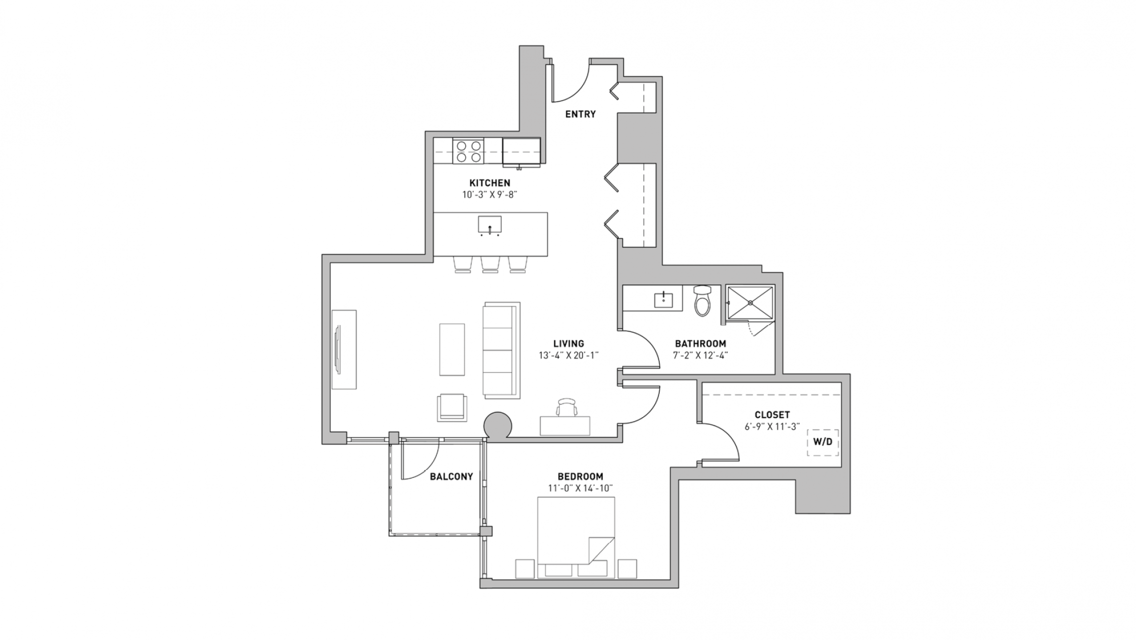 ULI The Pressman 404 - One Bedroom, One Bathroom