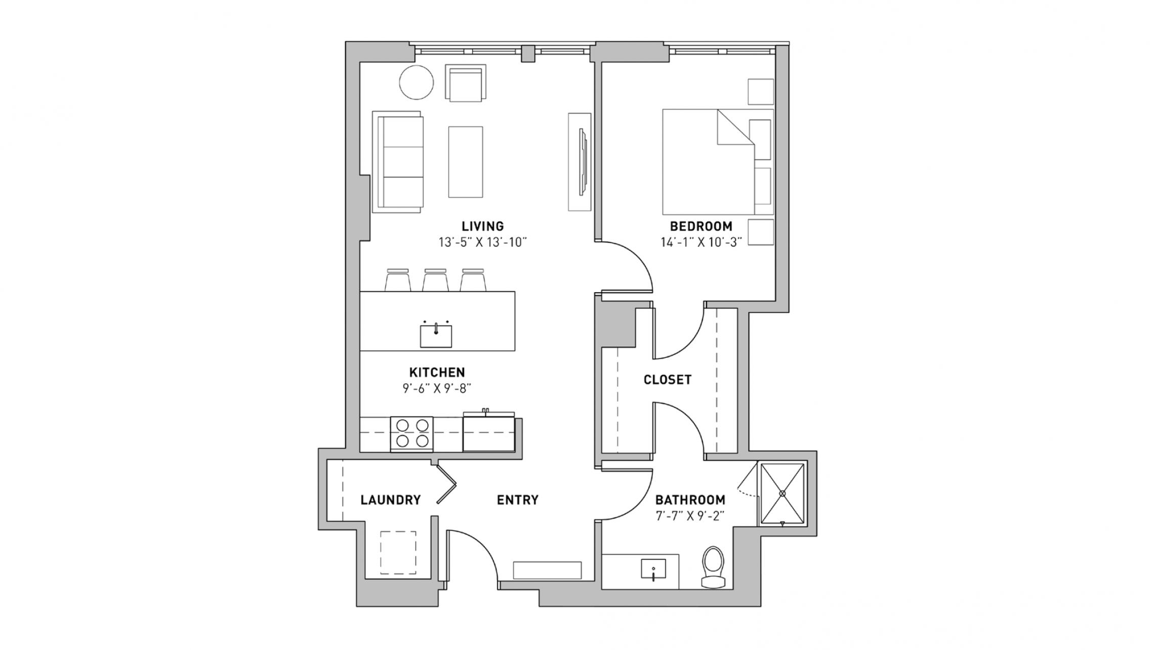 ULI The Pressman 503 - One Bedroom, One Bathroom