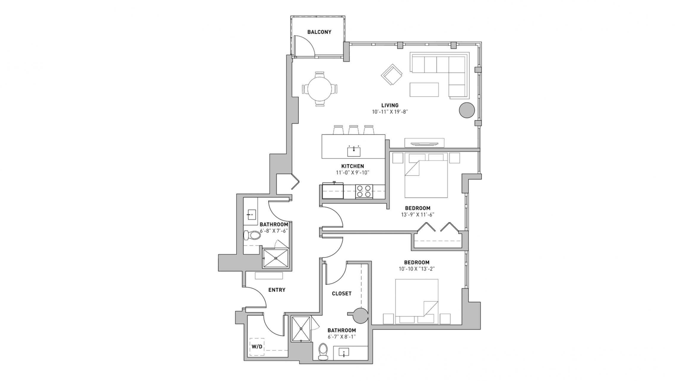 ULI The Pressman 507 - Two Bedroom, Two Bathroom