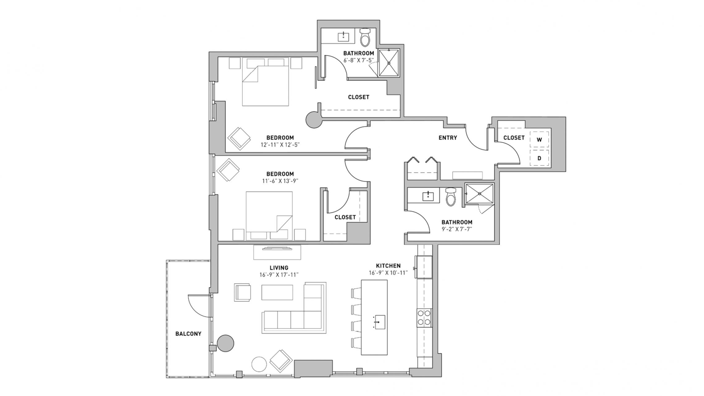 ULI The Pressman 602 - Two Bedroom, Two Bathroom
