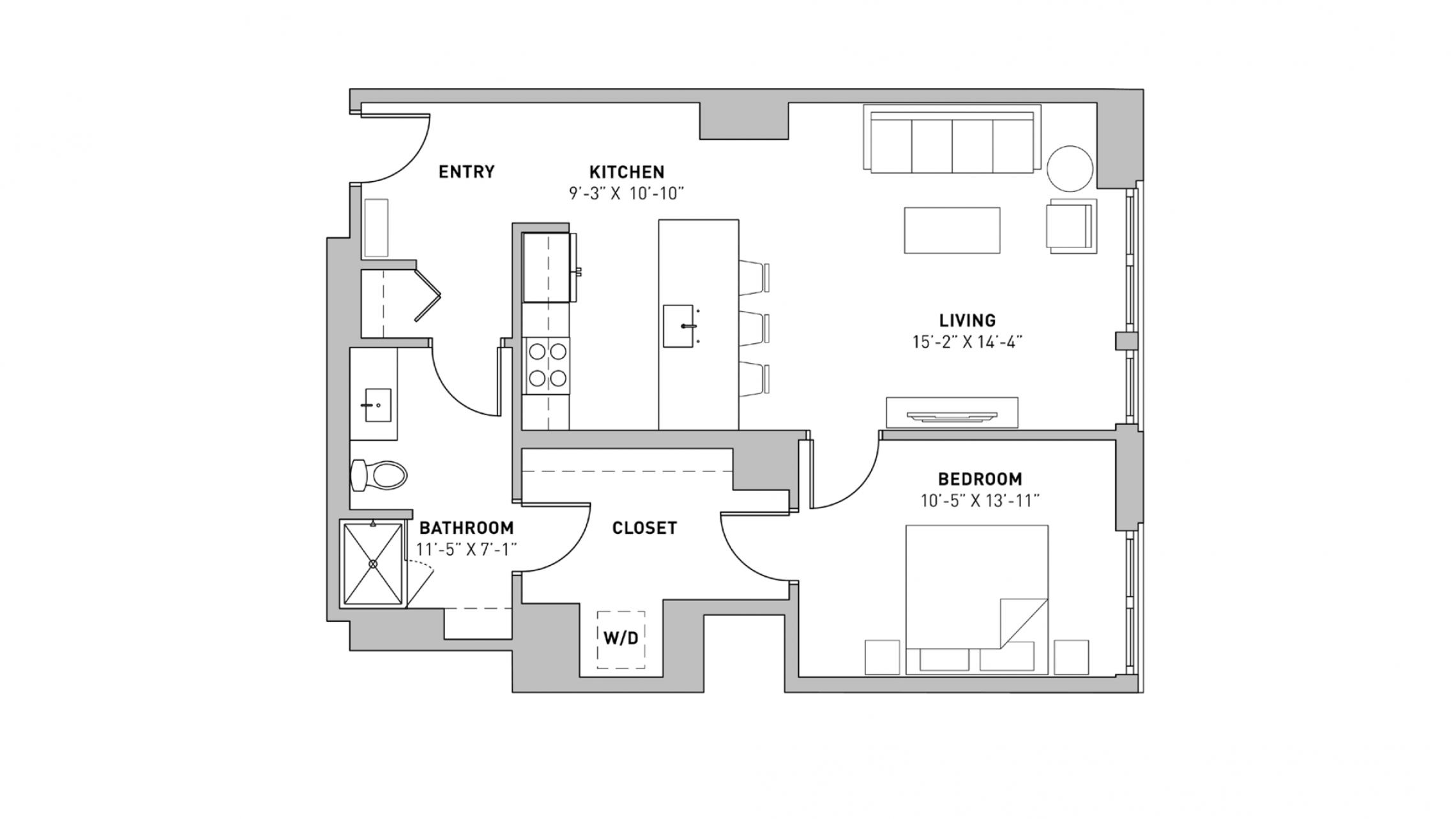 ULI The Pressman 611 - One Bedroom, One Bathroom