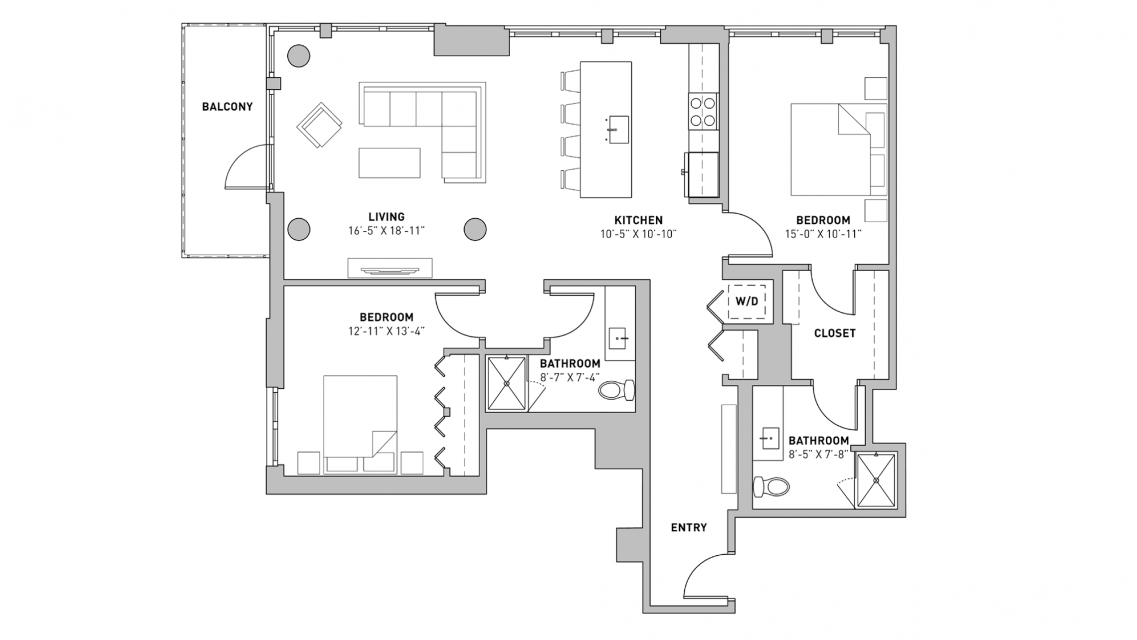 ULI The Pressman 701 - Two Bedroom, Two Bathroom