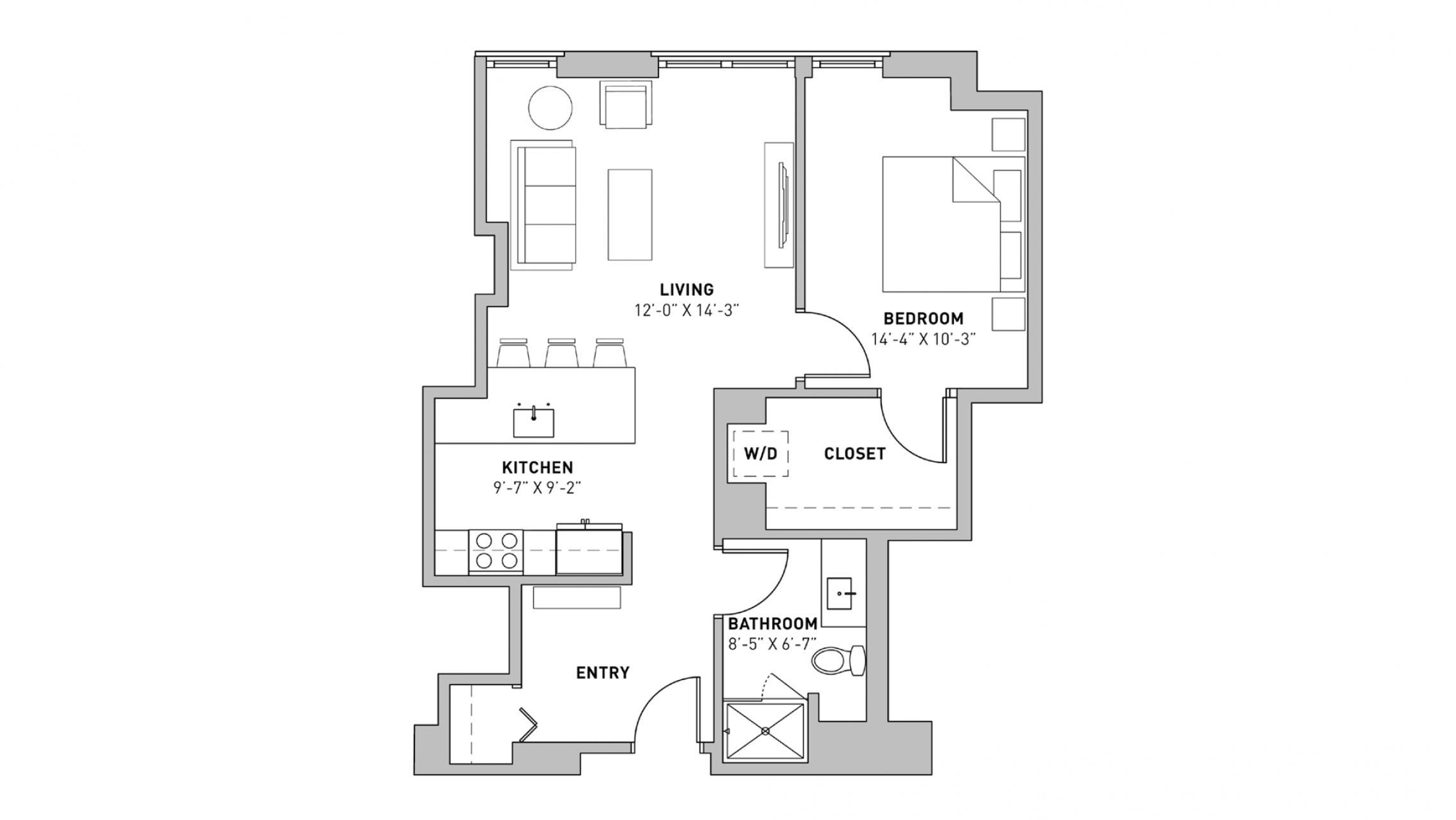 ULI The Pressman 805 - One Bedroom, One Bathroom