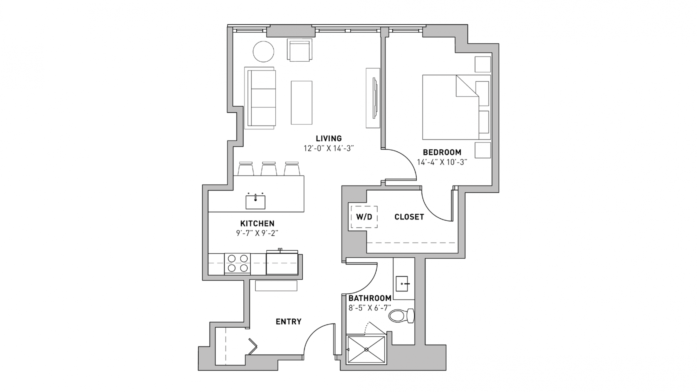 ULI The Pressman 905 - One Bedroom, One Bathroom
