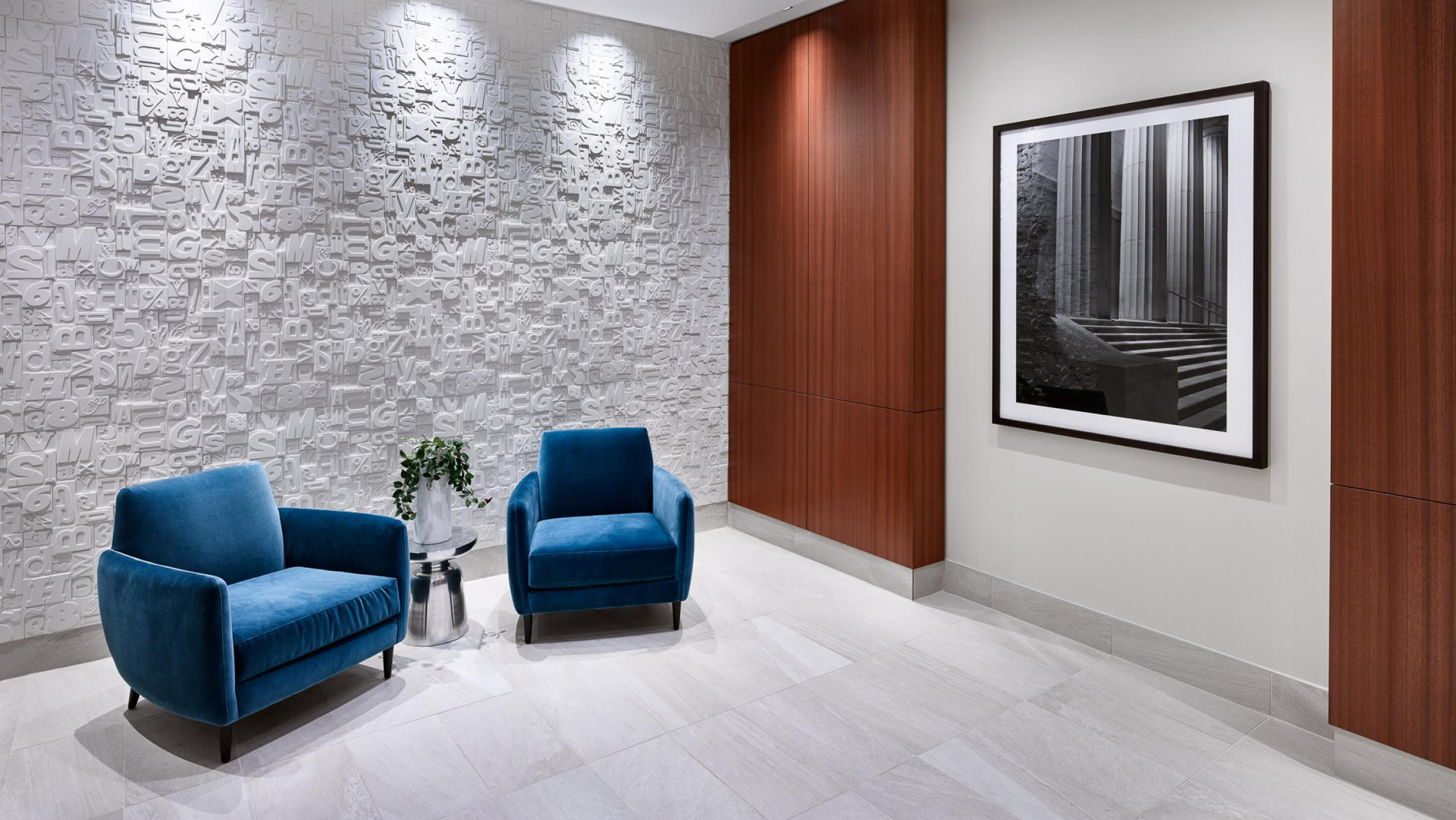 ULI The Pressman Elevator Lobby with Type Wall