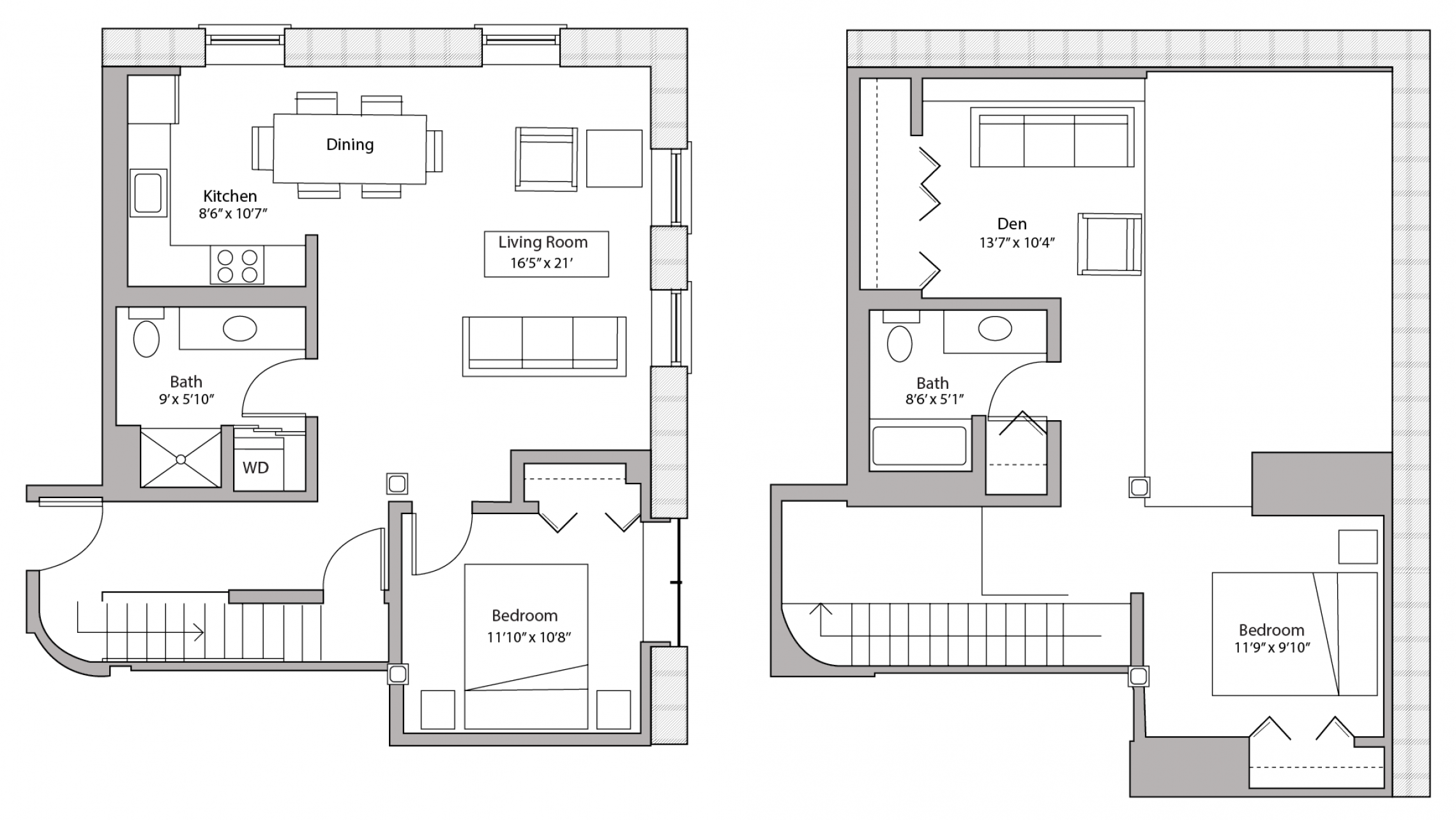 ULI Tobacco Lofts E201 - Two Bedroom Plus Den, Two Bathroom