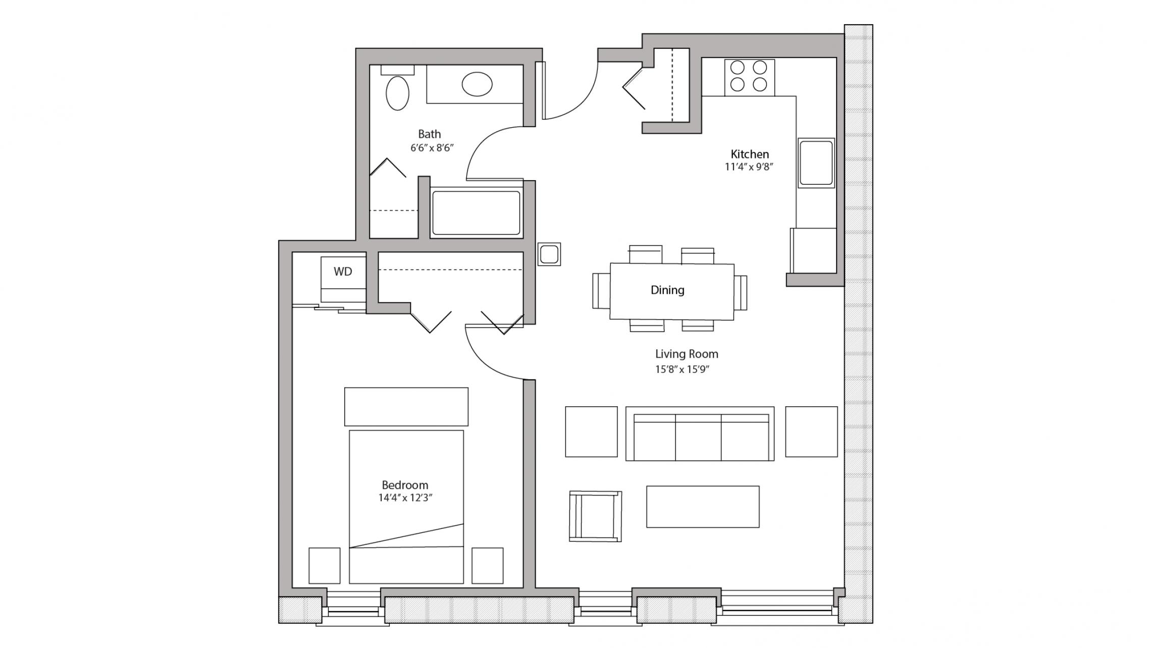 ULI Tobacco Lofts W218 - One Bedroom, One Bathroom