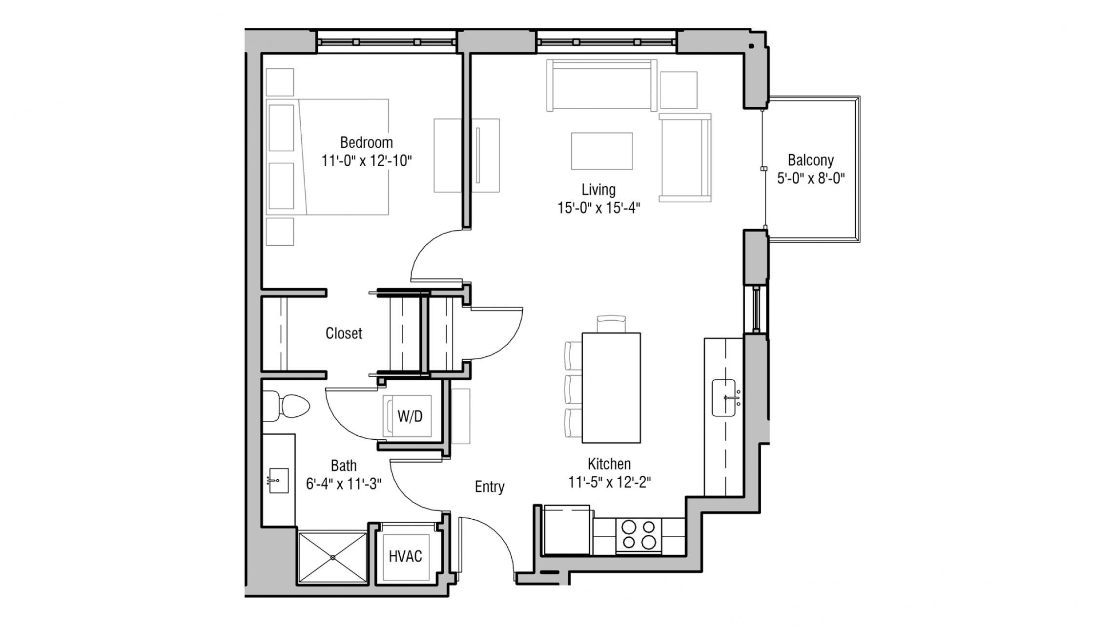 ULI 1722 Monroe 202 - One Bedroom, One Bathroom