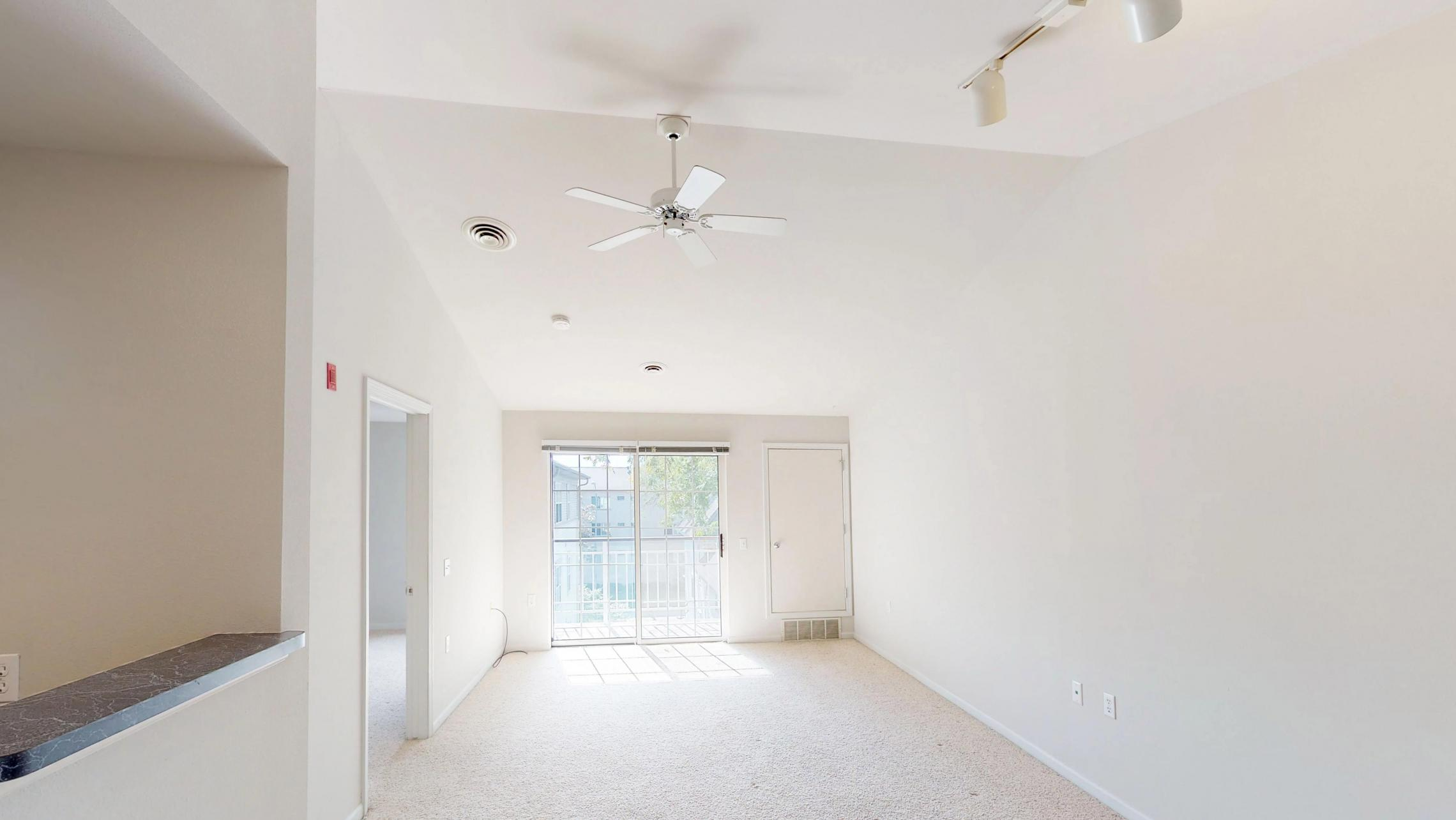 Wilson-Bay-303-one-bedroom-living-vaulted-ceiling-top-Floor-Apartment-Downtown-Madison-Balcony
