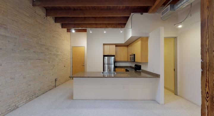 Tobacco-Lofts-Apartment-W209-One-Bedroom-Downtown-Yards-Madison-Exposed-Brick-Unique-Historic-Skylight
