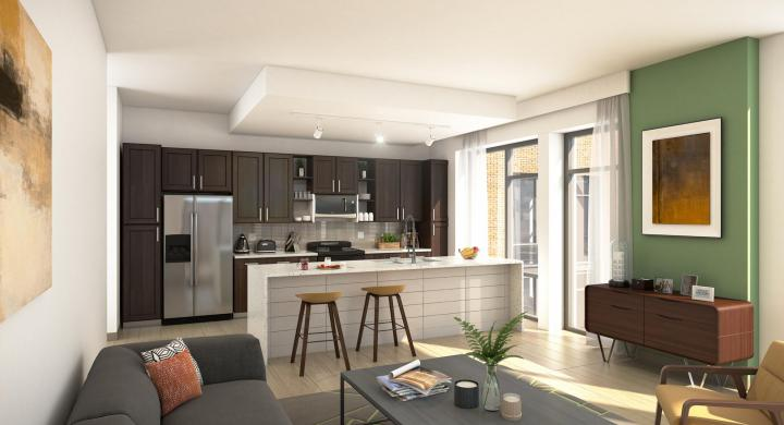 ULI The Pressman - Kitchen Rendering