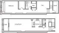 ULI Lincoln School 205 - One Bedroom Plus Den, One and  Half Bathroom