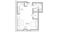 ULI Tobacco Lofts W212 - Studio, One Bathroom