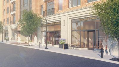 ULI 1722 Monroe Apartments Retail Rendering